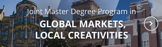 Joint Master Degree Program in Global Markets, Local Creativities from September 2021