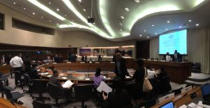 Participants attend conference on UN sustainable Development Goal at ESCAP Conference Center, Bangkok
